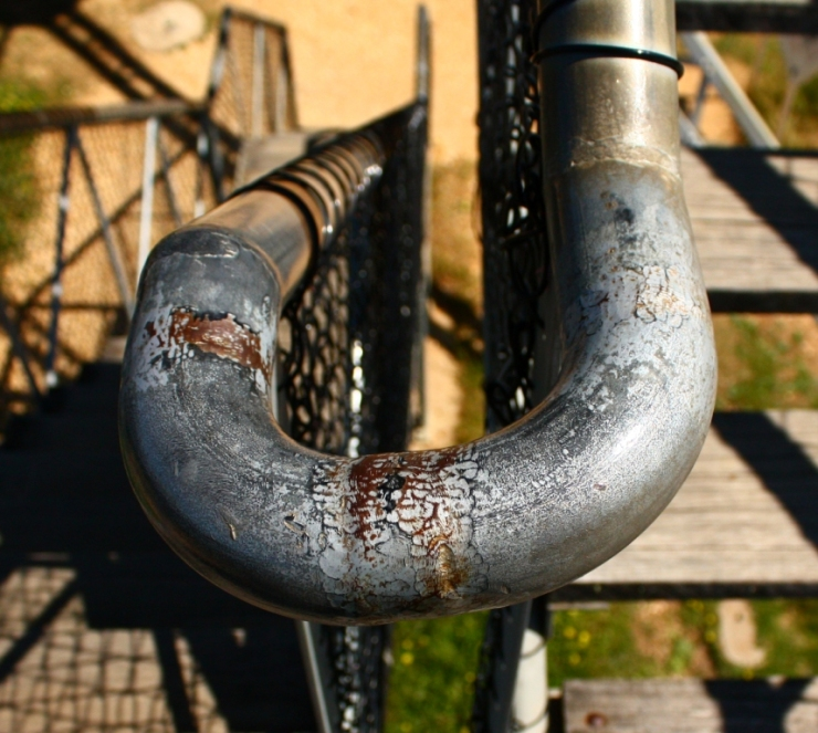 Handrail at Maldon's Lookout Tower