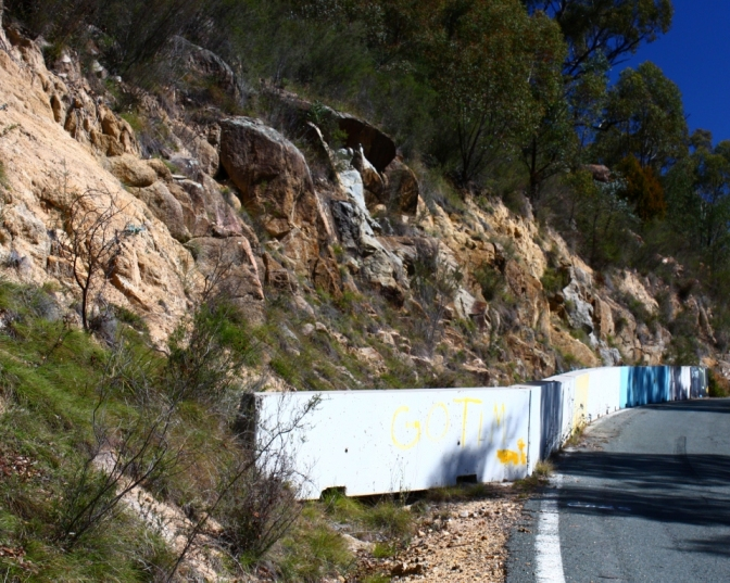 Concrete barriers at Namadgi 1
