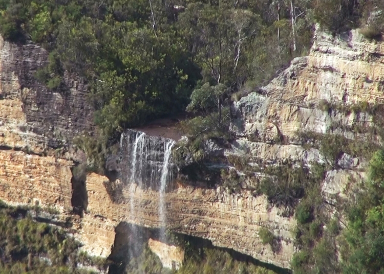 This view of Bridal Veil from Govett's Leap should have been a clue to how far down, and then how far up, we would have to walk!