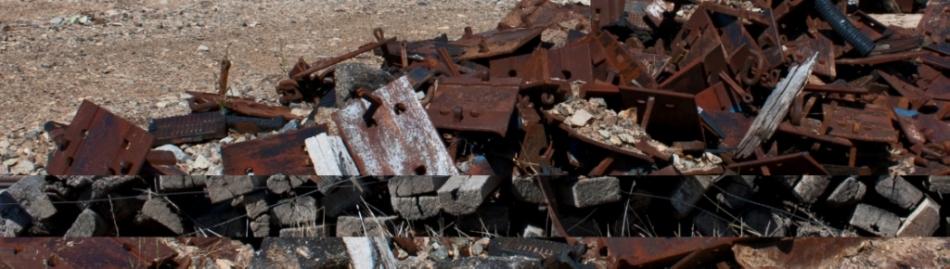 Debris collage