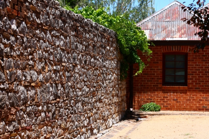 Cobb & Co wall, dating back to 1875, at Molong