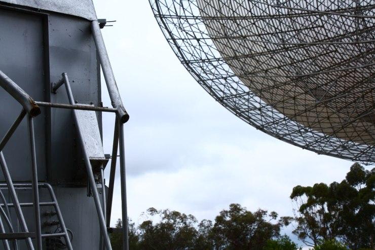 Telescope dish wih old receiver module