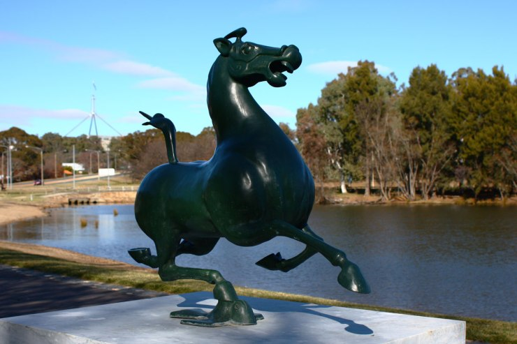 Sculpture of Galloping Horse