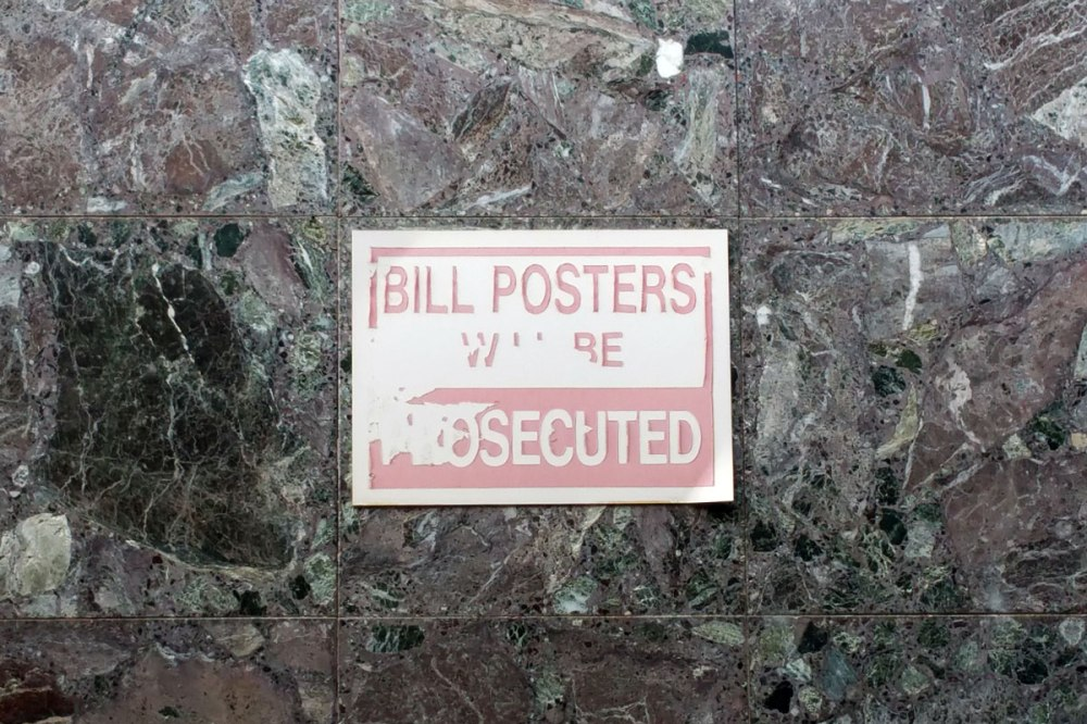 No Bill Posters Sign, Dickson ACT