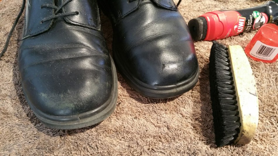 Polishing Shoes