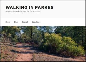 Walking In Parkes Home Screen