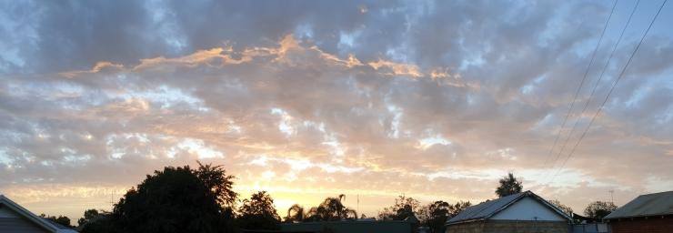 Panorama Metcalfe Street Sky 15 Dec